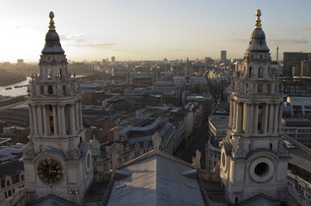 st paul s cathedral: Views of The City of London from St Paul s Cathedral