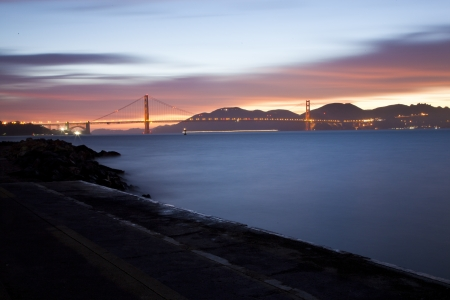 Golden Gate Bridge at night  San Francisco, USA photo