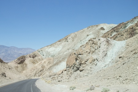 Road trough the Death Valley National Park, USA photo