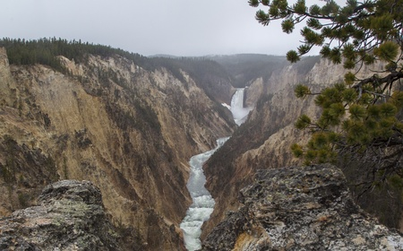 lower yellowstone falls: Grand Canyon of the Yellowstone, Yellowstone National Park