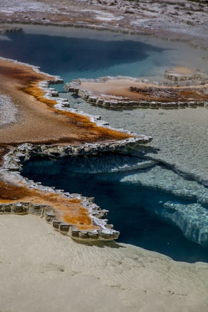 doublet: Doublet Pool, Upper Geyser Basin; Yellowstone National Park, Wyoming