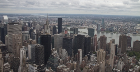 a mirage: panoramic view over Manhattan, New York city from Empire State building, New York City, USA