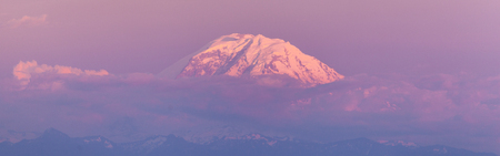 tacoma: Mount Rainier at sunset, USA Stock Photo