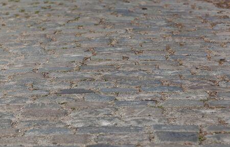 cobblestone: texture of cobblestone road
