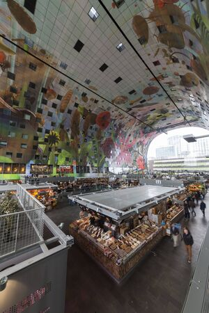 culinary tourism: View of the artistic market hall in Rotterdam Netherlands