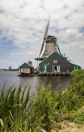 zaanse: Zaanse Schans Museum villagewith dutch houses and windmills Zaandam the Netherlands