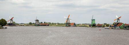 zaandam: Zaanse Schans Museum villagewith dutch houses and windmills Zaandam the Netherlands