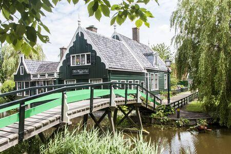 zaandam: Traditional Dutch house Zaanse Schans Zaandam the Netherlands Editorial