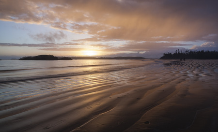 Sunset at the Pacific Ocean