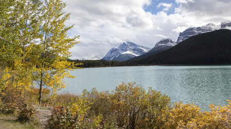Glacier lake at Banff National Park Stock Photo