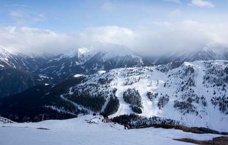 Panorama of Mayrhofen ski area, Mayrhofen, Zillertal, Austria
