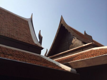 traditional house: Thai traditional house roof  Stock Photo