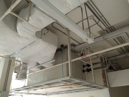 ceiling fan: Ceiling type air handling unit AHU