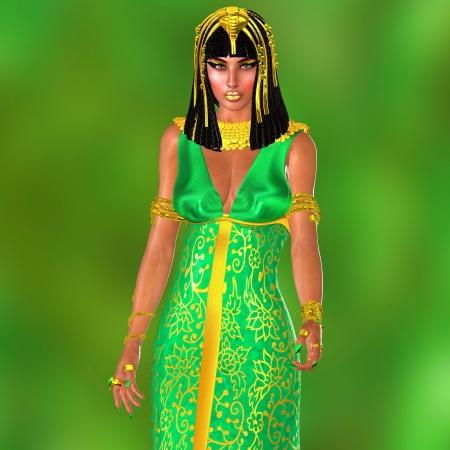 nefertiti: The Pharaoh s Wife-She was the wife of Ramses the great  Stock Photo