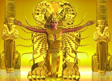 A Golden Templo egipcio antiguo egipcios creían en los ritos sagrados que sólo puede llevarse a cabo por parte de sus líderes ungidos Foto de archivo - 20400626