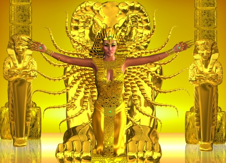 high priest: A Golden Egyptian Temple  Ancient Egyptians believed in sacred rites which could only be performed by their anointed leaders