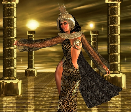 Deeply Desired An Egyptian sovereign uses her alluring powers to command the gods of the sun to bestow their blessings upon her people  photo