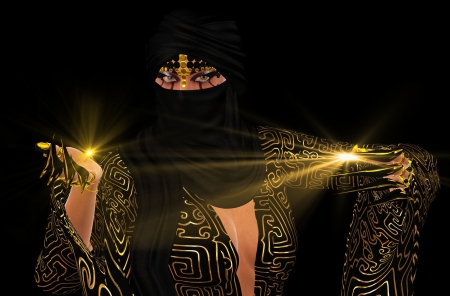 Shadow of the Desert   In Arabic folklore it is believed that there are jinns who live within the shadows of the deserts  photo