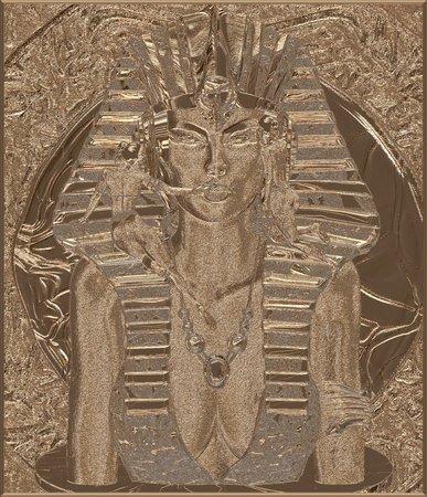 ファラオ女王砂岩デジタル アート 写真素材