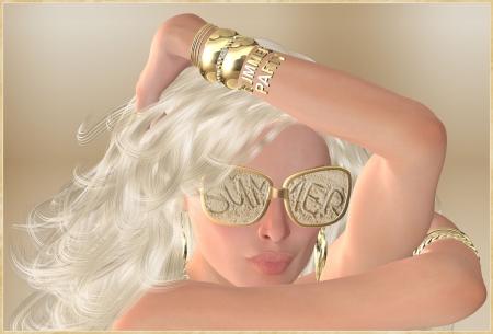 platinum: Platinum blonde girl with sunglasses