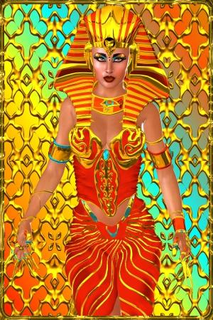 egyptian cobra: Faraone regina in piedi in un potente postura