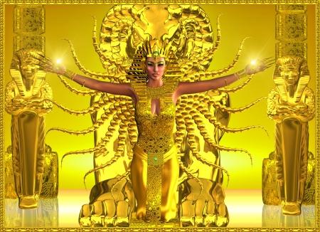 A Golden Egyptian Temple 版權商用圖片 - 24904078