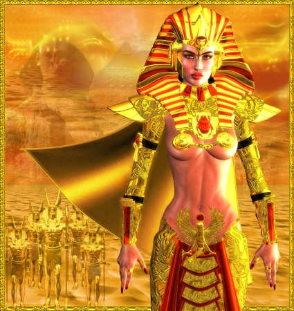 Egyptian Warrior Queen Stock Photo