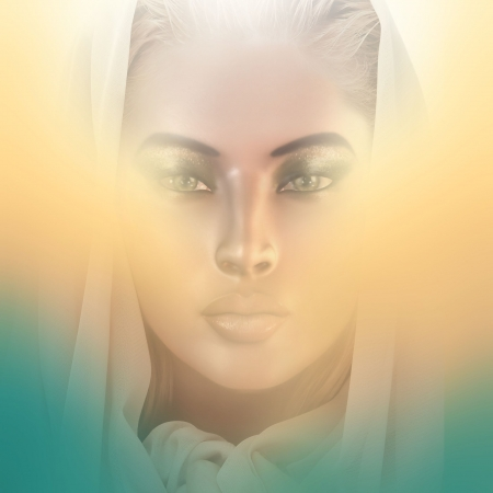 Her Holiness  Spiritual woman  face Stock Photo