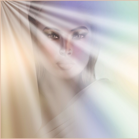 apparition: Apparition of Mary  An artistic rendering of a spiritual vision of Mary   Stock Photo