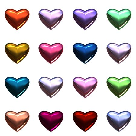Valentine day hearts isolated on white. photo