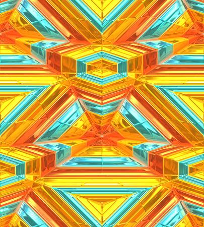 現代のゴールドの抽象的な背景、3 d の奥行き知覚。