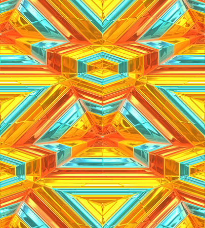 the depth: Modern gold abstract background, 3d depth perception.