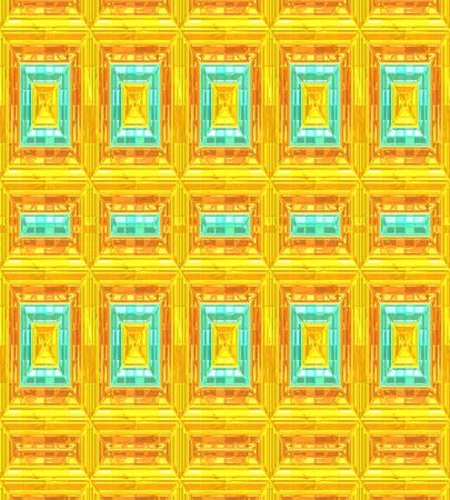 Modern Background Patterns in Orange,Gold and Turquoise. Stok Fotoğraf - 36016777