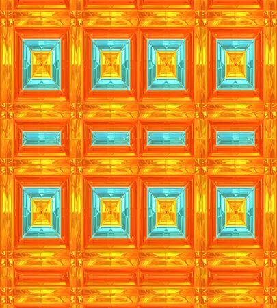 Modern Background Patterns in Orange,Gold and Turquoise.