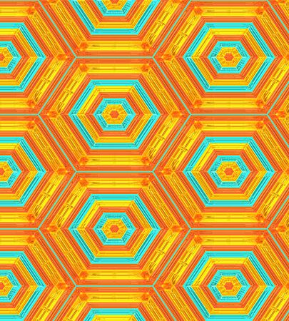 Modern Background Patterns in Orange,Gold and Turquoise Stok Fotoğraf