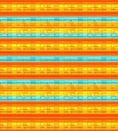 Horizontal Lines Background,  abstract arrangement of gold, orange and turquoise. Stok Fotoğraf