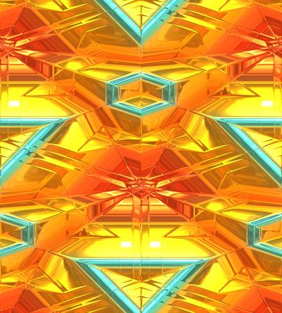 現代のゴールドの抽象的な背景、3 次元。