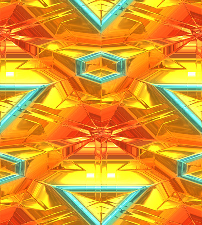 3 dimensional: Modern gold abstract background, 3 dimensional.