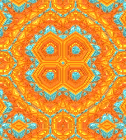 Unique Pattern Background, orange, gold, turquoise colors. Stok Fotoğraf - 36016819