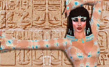 cleopatra: Cleopatra of Egypt! Our modern digital art Egyptian fantasy version.