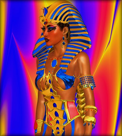 egyptian woman: Cleopatra or any Egyptian Woman Pharaoh. Modern digital art fantasy, Egyptian style.