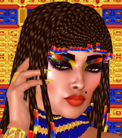 egyptian woman: Cleopatra or any Egyptian Woman Pharaoh, Modern digital art fantasy.