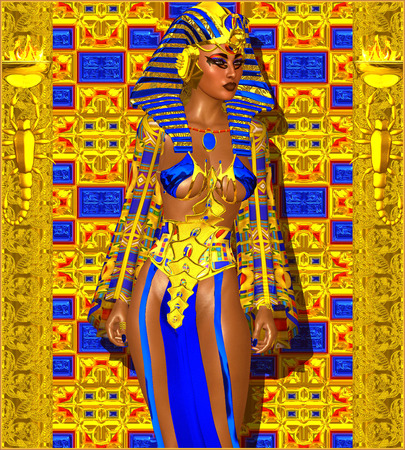 egyptian woman: Cleopatra or any Egyptian Woman Pharaoh.