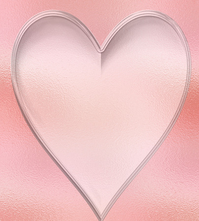 admire: Peach Heart background with a glass texture and glowing light effect.