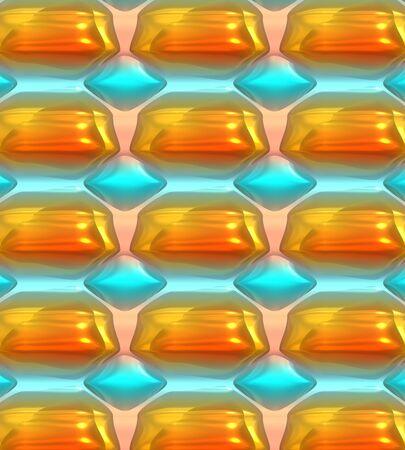 ゴールド、ターコイズ、ホワイトのユニークな背景は、オリジナル パターンで組み合わせます。