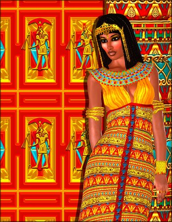 egyptian woman: Egyptian woman adorned with gold jewelry.
