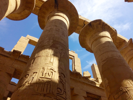 colonnade: majestic colonnade on the territory of Karnak temple