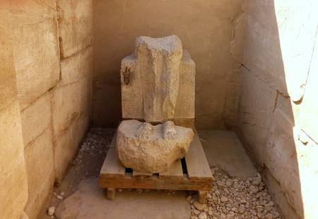 compilation: compilation of fragments of sculpture during the restoration of the territory of the Karnak temple