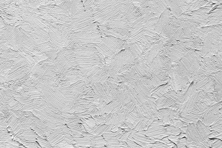 textuur van een olieverfslag op canvas. zwart-wit beeld