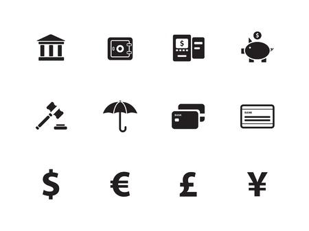 Ic�nes bancaires Banque d'images - 17776335